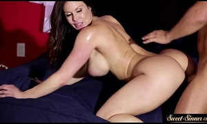 Busty MILF snatch drilled out of reach of on all sides fours