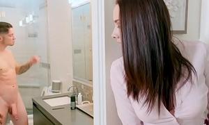 BANGBROS - Stepmom Chanel Preston Catches Son Convulsive Off In Bathroom