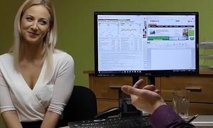 LOAN4K. It'_s plead for a casting but blonde undresses and fucks in office